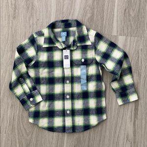 NWT GAP 4T Flannel Shirt